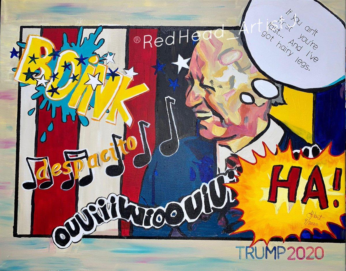 Original artwork available.  Makes a great holiday gift.    Give this to a Biden supporter.  LOL  #BidenTransition #PokemonGO #despacito #Democrats #DementiaJoe #Trump2020 #SidneyPowell #Kraken #hairylegs #popart #artistsontwitter