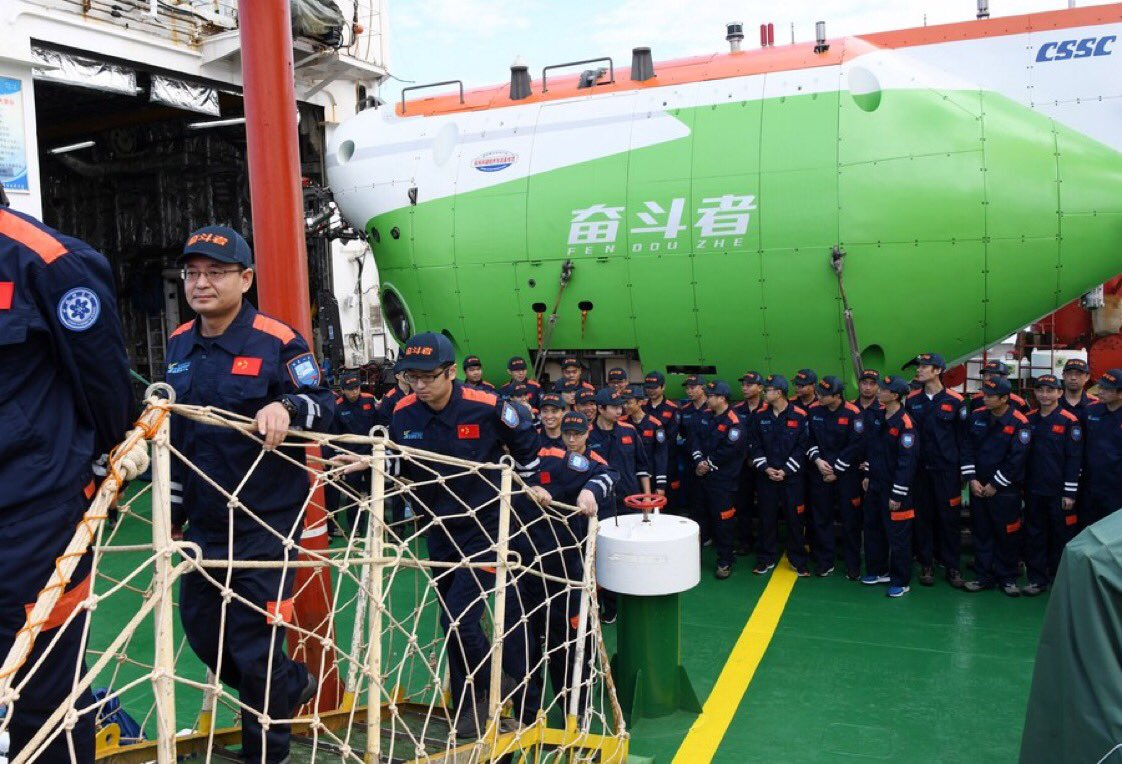 Xi Jinping on Saturday sent a letter to congratulate on the successful completion of a 10,000-meter sea trial of the manned submersible #Fendouzhe (Striver) and its return to port