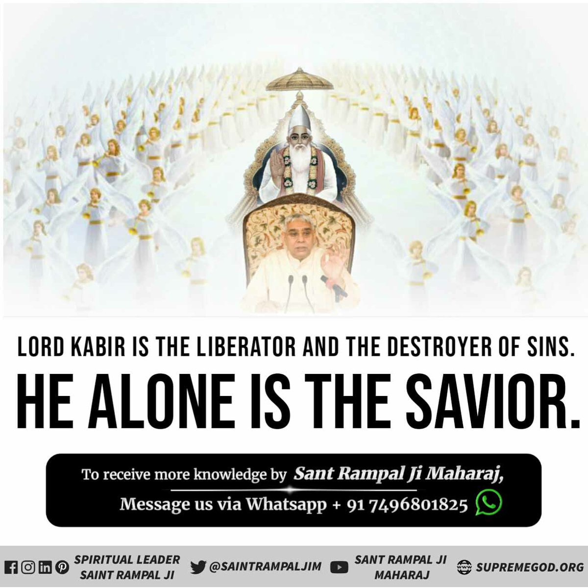 ##SundayThoughts  #GodMorningSunday Kabir Saheb can help a soul in any situation. A brother can't do this. So accept refuge of Saint Rampal Ji Maharaj.He alone is the Saviour. @SaintRampalJiM ➡️ Must visit Satlok Ashram Youtube Channel .
