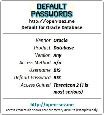 1000's of default passwords on https://t.co/BLx0w0oG1P -=- fb/defaultpasswords #password #infosec #opsec https://t.co/Yz00iQxjAb
