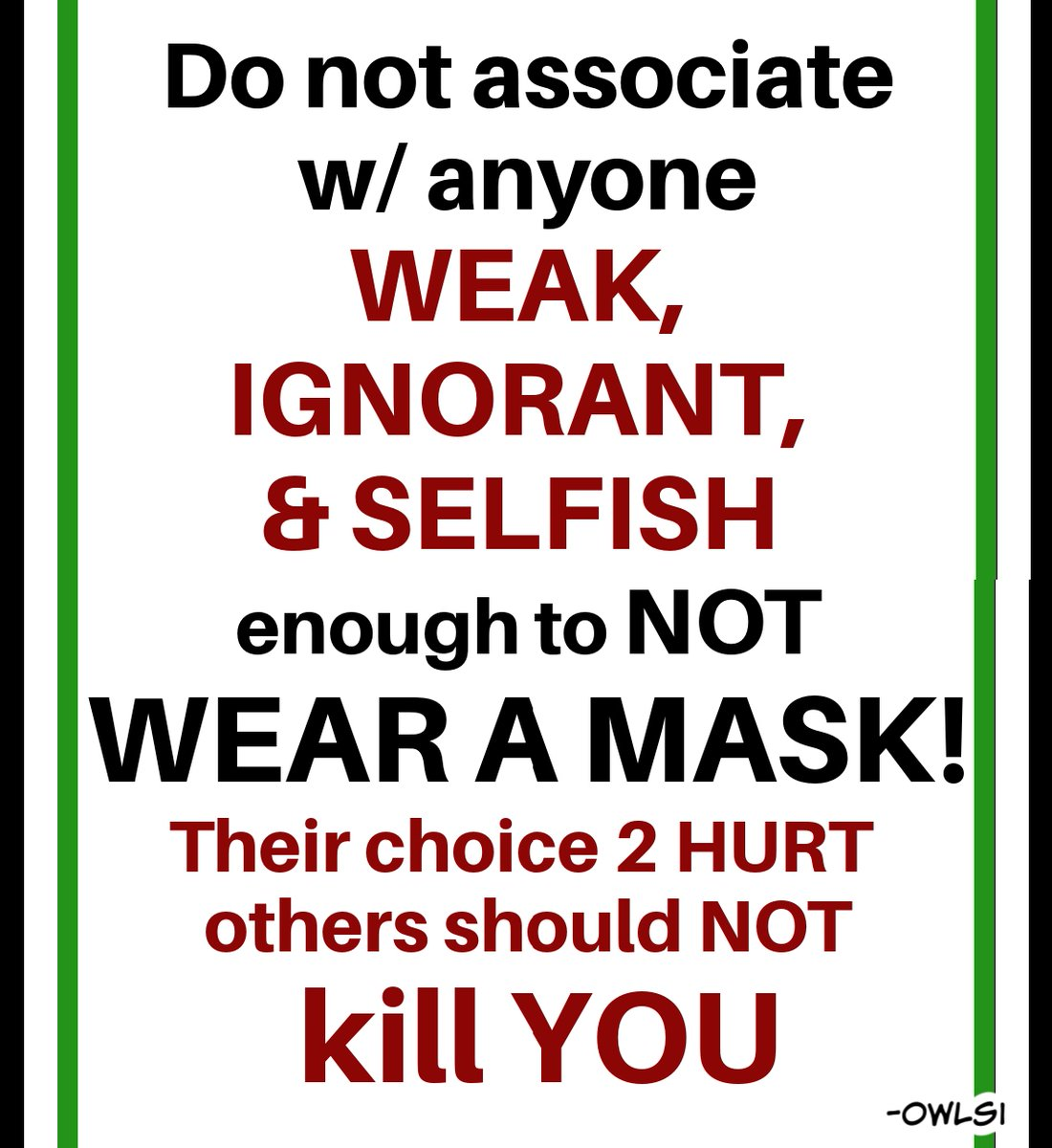 wearing a mask is also a CHANCE🌞 a chance 2 love a chance 2 help a chance 2 TEAM a chance 4 PROGRESS  I'M SO THANKFUL for this chance  ANYONE making MASK-WEARING a political thing??? the truest anti-USA >IDIOT w/o a cause  #idiotsGONEwild #BLM #LGBTQ #MaskUp #republicans #trump