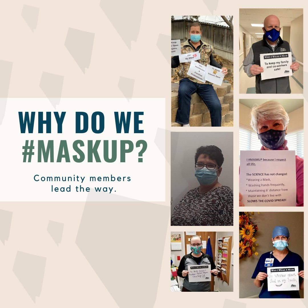 With the steady incline of #covi̇d19 cases in Nevada, community members #maskup to share why they feel it's important to help stop the spread. #maskupnv