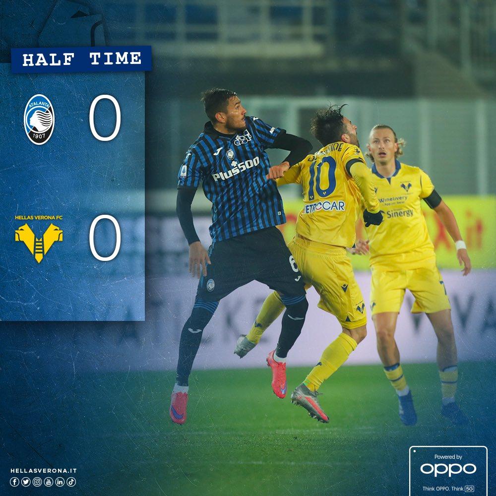 🔴 | #AtalantaVerona 0-0 🕘 | 46' pt ❗ | Reti bianche a fine primo tempo 💪 #DaiVerona #SerieATIM #OltreILimitiConOppo