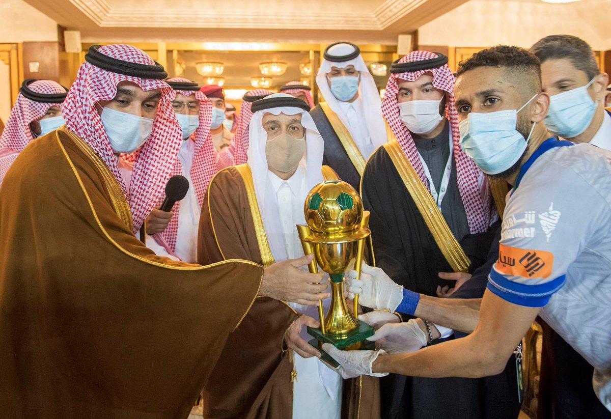 نيابة عن الملك.. سمو أمير #الرياض يرعى المباراة النهائية على كأس #خادم_الحرمين_الشريفين للموسم الرياضي 2019 - 2020. #واس