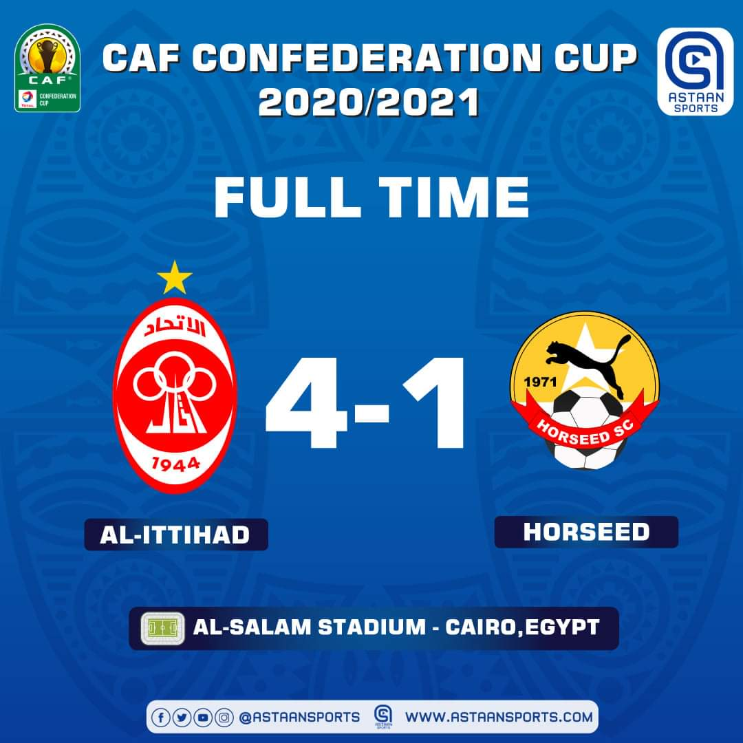 Al-Ittihad wins 4-1 against Somalia's Horseed at CAF Confederation Cup