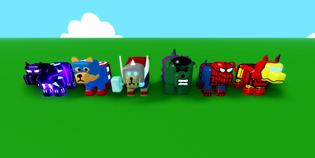 If the avengers were dogs  #roblox #robloxdev #avengers