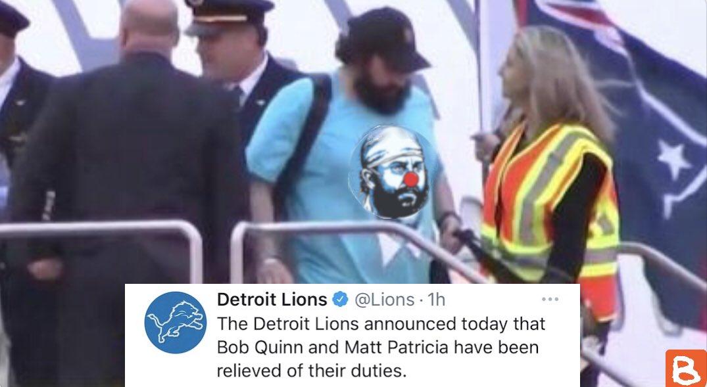 The @Lions have let go Matt Patricia #MattPatricia #detroitlions #Lions #bobquinn #firepatricia #OnePride