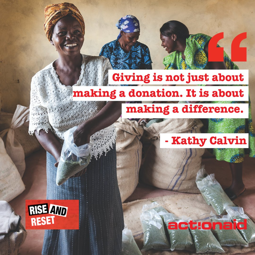 """Giving is not just about making a donation. It is about making a difference."" - Kathy Calvin #risewithwomen #pressreset #givingtuesday"