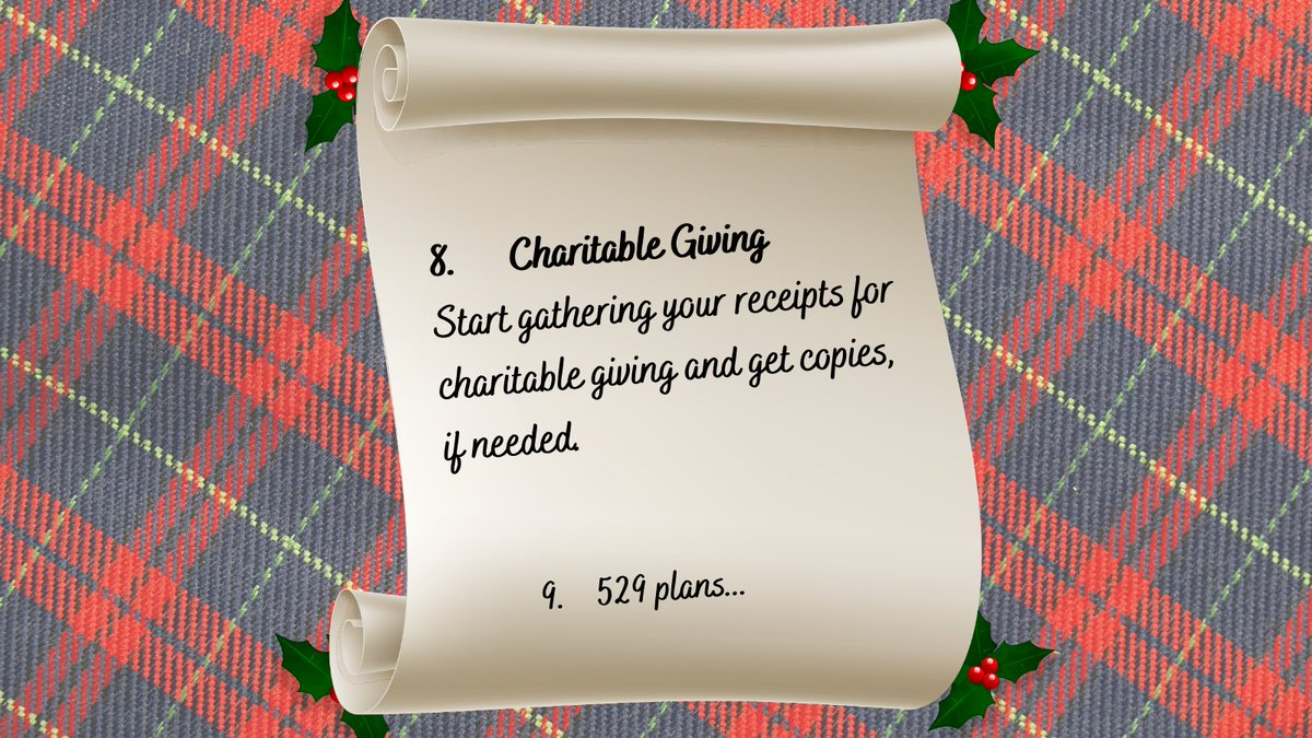 8. Did you know EVERYONE can deduct $300 of charitable giving in 2020? Gather your receipts from churches and charities. Be sure you have a detailed breakout and receipt for donating your used items to charity.  #l4l #f4f #money #christmaslist #xmas2020 #Countdownto2021 #charity