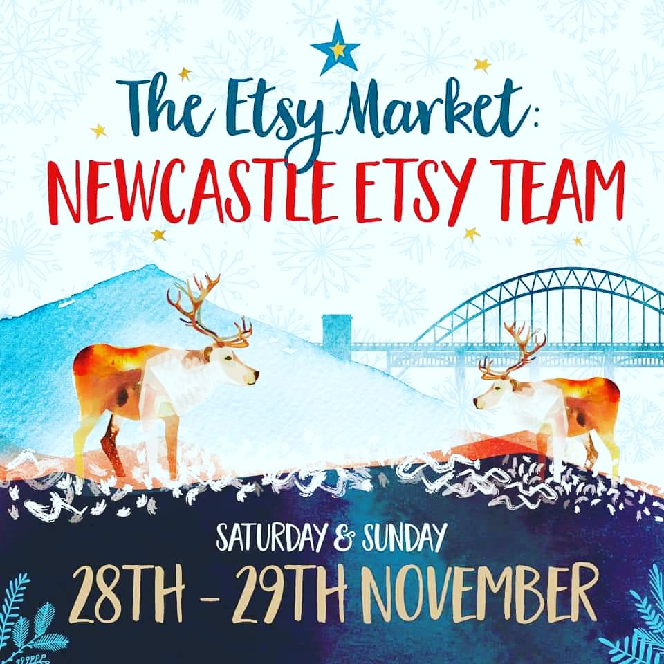 #SelfPromotionSaturday ! The Newcastle Etsy Xmas market is running until tomorrow if you're looking for fab Xmas gifts!  #shopsmall #SmallBusinessSaturday #shoplocal #xmasmarket