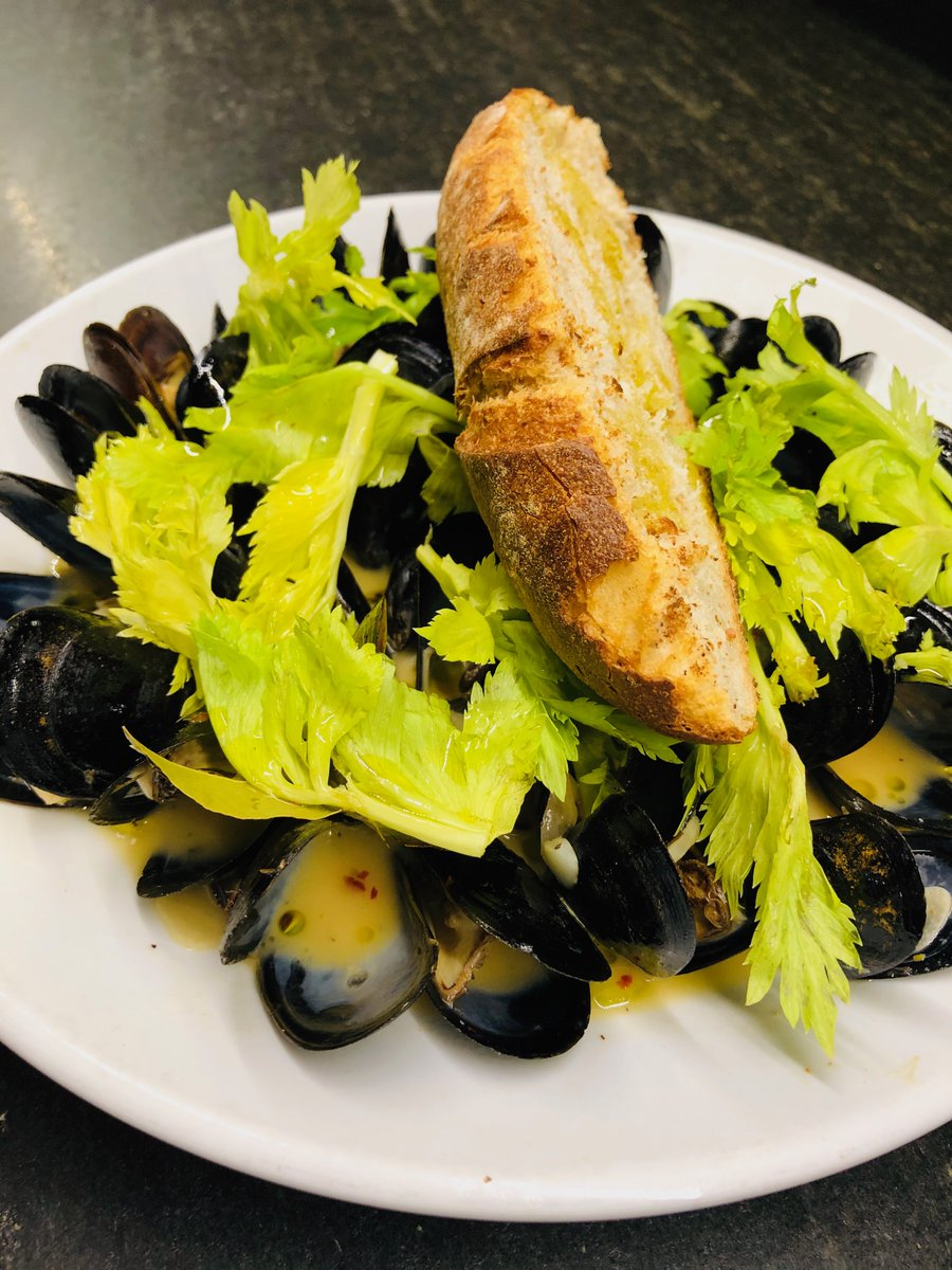 The weather is PERFECT for our White Water Mussels - sour beer, herb butter and celery leaf served with a Bake Shop Baguette. Join us for Date Night Dinner and pair our mussels with a bottle of Delamotte 🍾. #EatLocal #SmallBusinessSaturday #DateNight