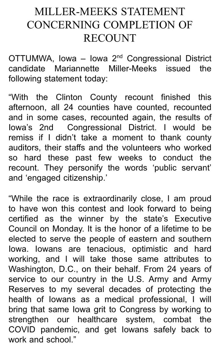 Congratulations!  @millermeeks   More good news for the House.