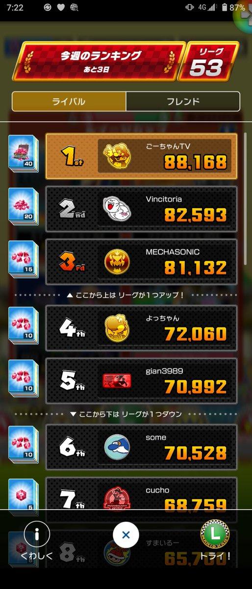 test ツイッターメディア - #マリカツ #マリオカートツアー #MarioKartTour  リーグのルイマンRXでバナナ揃いとコイン揃い2発で31000点台を出せた!  他のコースを厳選しまくるぞ! https://t.co/QTXi51W80E