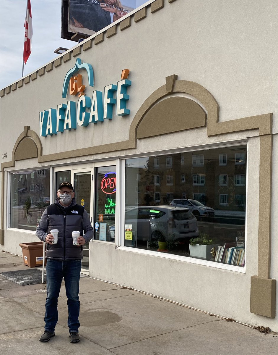 My #SmallBusinessSaturday in St. James included coffee from @Yafa_Cafe!