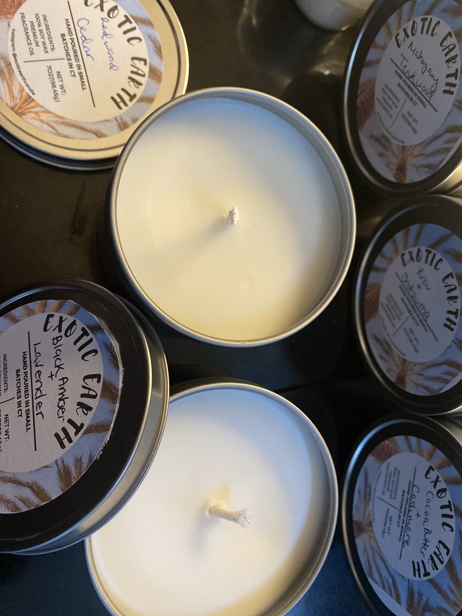 Hey y'all my name is Nneka and I make soy wax candles that smell amazing! Check me out on Etsy  or send me a DM to order. 7 oz tins are $12 and 6pk of tea lights are $5 #SmallBusinessSaturday