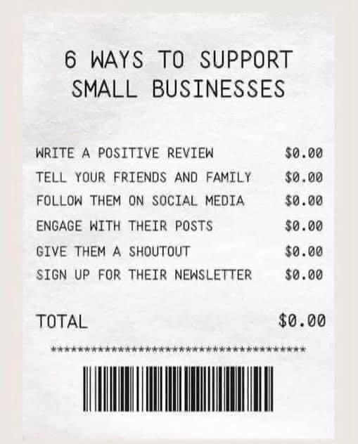 How you can help local businesses besides buying from them.  #SmallBusinessSaturday #SmallBizSat #shopsmall #ShopSmallSaturday #shoplocal