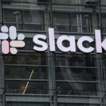 Image for the Tweet beginning: #Slack's stock climbs on possible