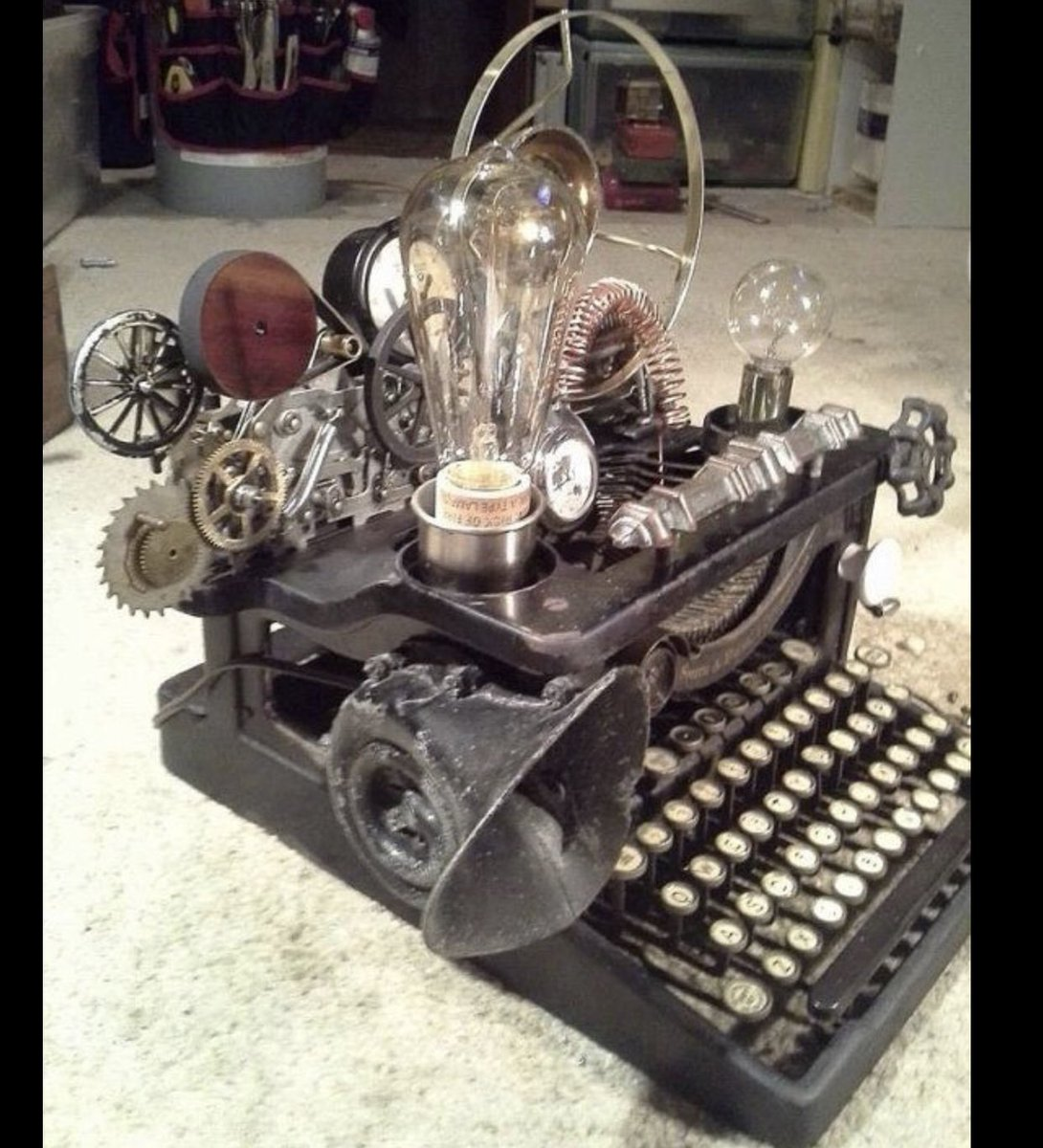 @JimLaPorta That's the genesis of a #STEAMPUNK machine that percolates coffee and gives massages as well as all that wordsmith stuff.
