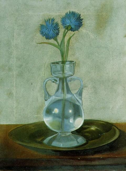 Salvador #Dali - The Vase with Cornfowers, c 1959