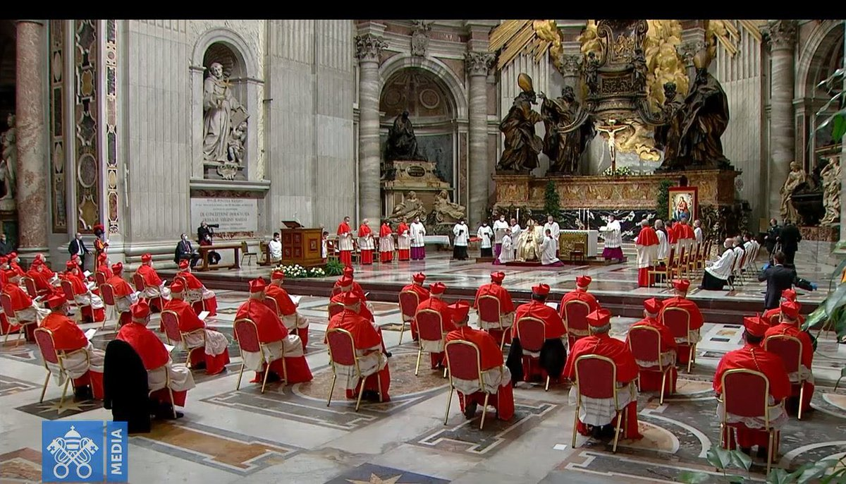 #VaticanCity 🇻🇦  It's official. Though not in Rome to receive their red hats due to #Covid19 restrictions, Bishop Cornelius Sim of #Brunei & Archbishop Jose Advincula of Capiz, #Philippines have been installed as #cardinals. #consistory  More via @ctrlamb