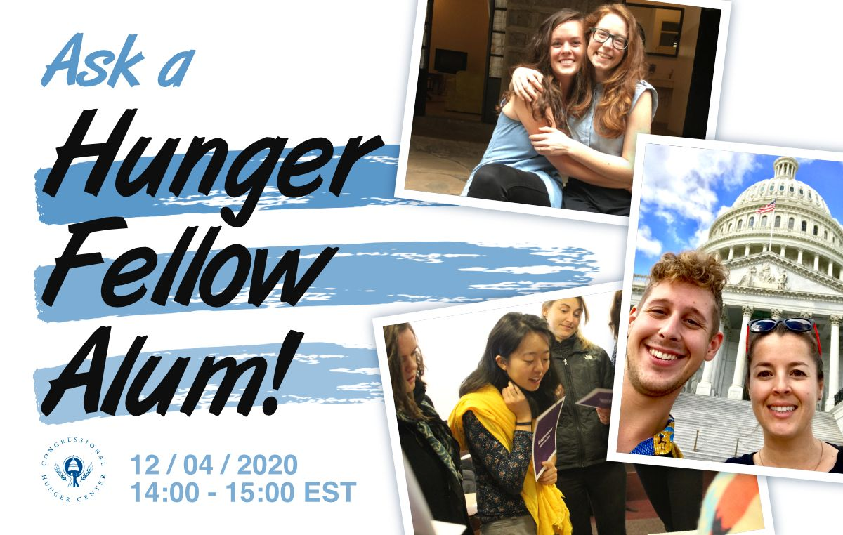Don't miss your chance to ask a Leland #HungerFellow alum! Check out our panel discussion for prospective applicants to the Leland Hunger Fellowship, this Friday, Dec. 4. — registration information here:  #ZeroHunger