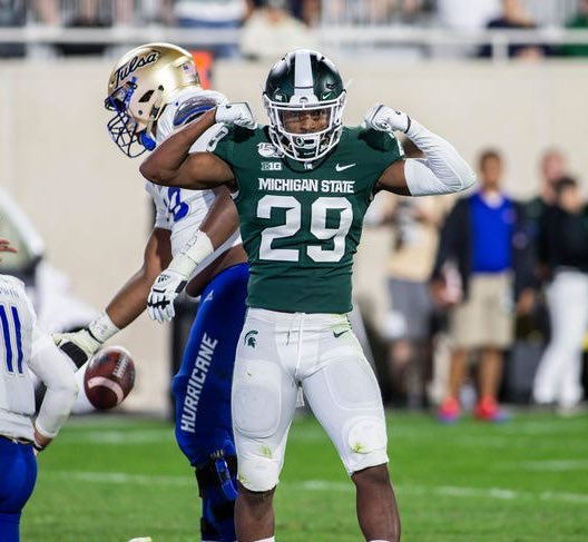 """SpartanMag.com on Twitter: """"Second-straight multi-interception game for Shakur  Brown... He's now tied for the D1 lead with 5 total interceptions on the  year.… https://t.co/LVkYzlWkdg"""""""