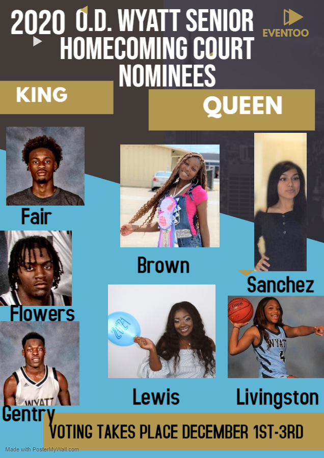 It's time to hit the polls and vote for your Homecoming King & Queen! @OdwyattFB @WyattHSBB @HRob39 @Drmamouton