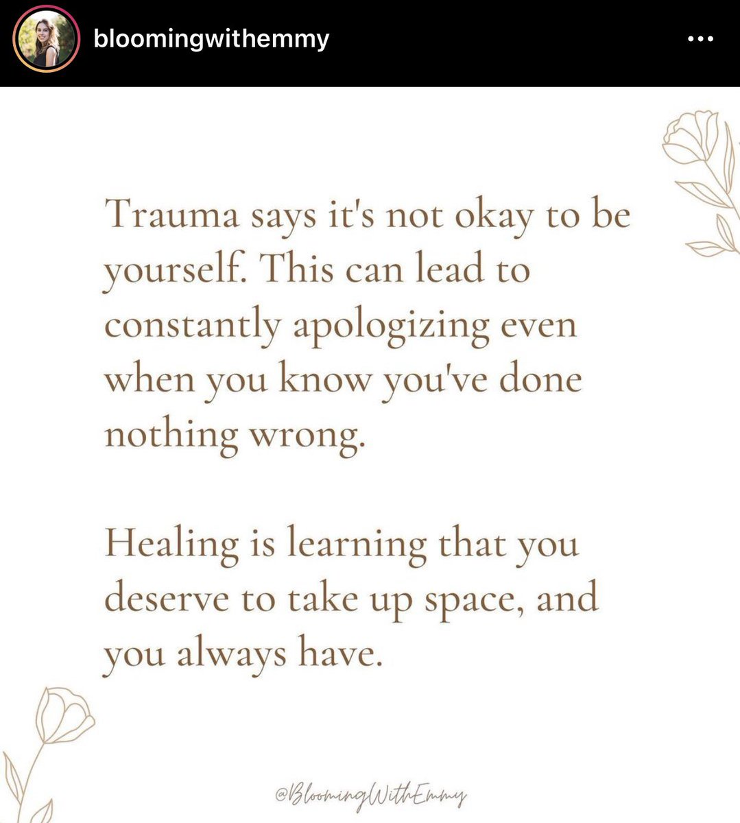You deserve space...shine brightly and you don't have to dim your light for others. #trauma #mentalhealth #depression #space https://t.co/AJGqIMQvxY