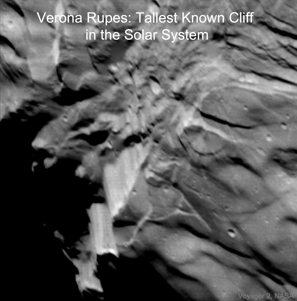 Verona Rupes: Tallest Known Cliff in the Solar System                 #space #nasa https://t.co/7kV3sbFyrr