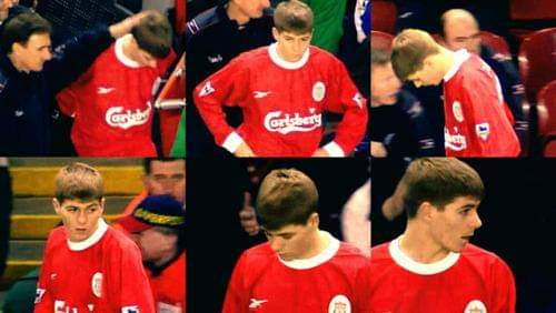 On this day 29th of Nov  1998 - #StevenGerrard made his reds bow as a last-minute substitute for @vedgy in our 2-0 defeat of Blackburn Rovers at Anfield, which came courtesy of goals from @themichaelowen and @PaulInce.  #onthisdaylfc  #LiverpoolFC #YNWA #LFC https://t.co/upxzTYMTl8