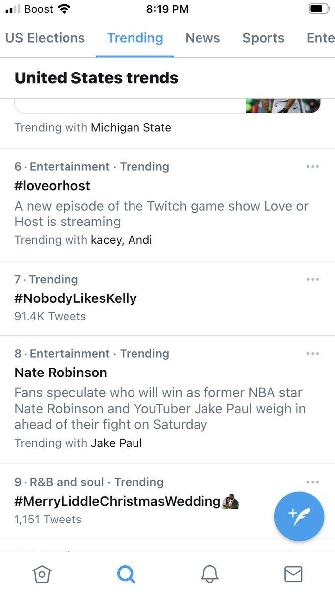 5 hours later it's still trending #NobodyLikesKelly #Warnock4Senate