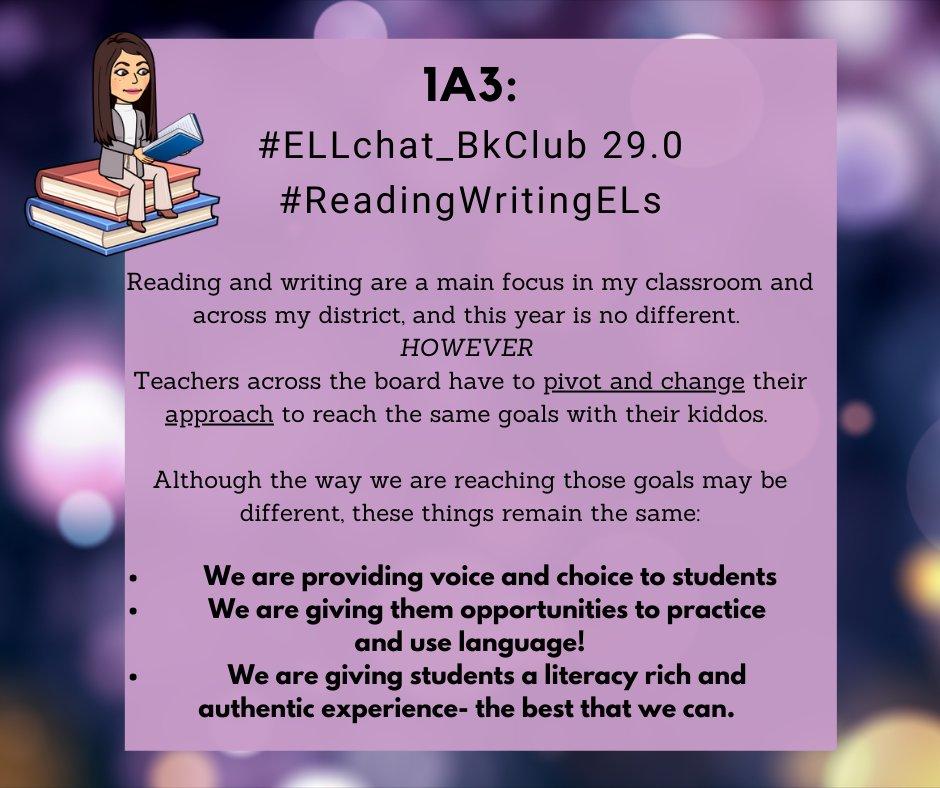 1A3: #ELLchat_BkClub 29.0 #ReadingWritingELs