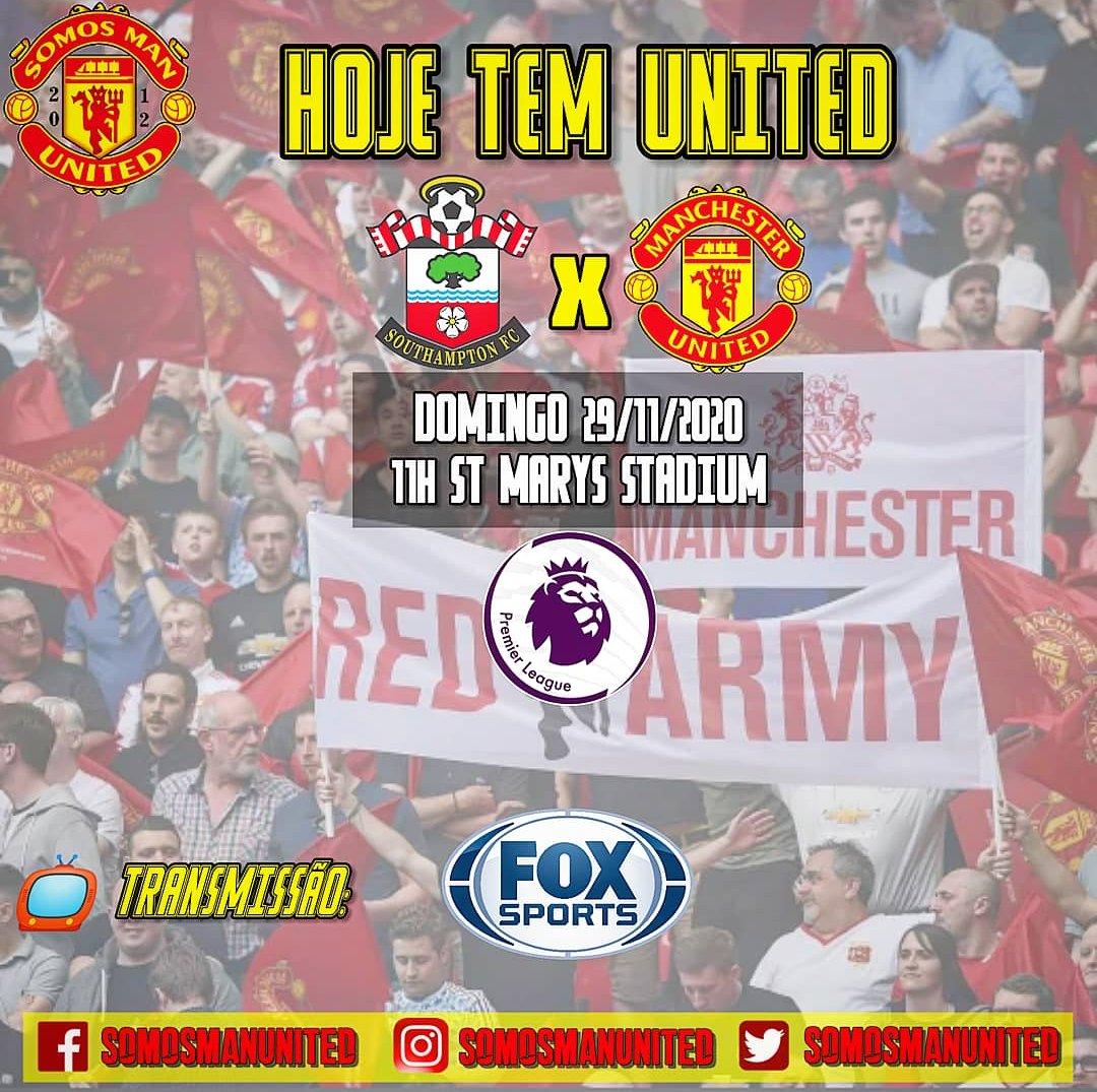 Hoje tem United em campo contra o Southampton, ás 11h no St Marys Stadium pela Premier League. O jogo terá transmissão ao vivo do Fox Sports.  #GGMU #GlazersOut #PremierLeague #SOUMUN https://t.co/R9x0HX8vFO