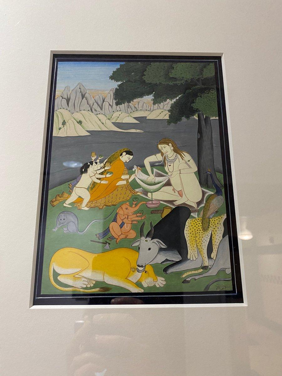 My hospital has a #Kangra Painting Exhibit! The Guler-Kangra art style originated in the court of Raja Dalip Singh (1695–1741). Even in the US, we admire the artistry of #HimachalPradesh! #Bharat #India #Himalayas @KanganaTeam @HinduAmerican @CoHNAOfficial https://t.co/1IXRE6CKB9