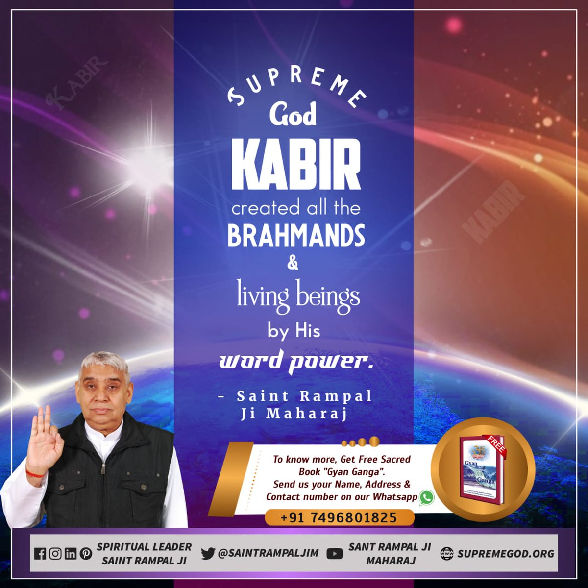 @SaintRampalJiM Creation of Nature In the beginning, there was only one place called Anami Lok. God Kabir then created three other lower Loks (places), namely Agam Lok, Alakh Lok & Satlok with the power of word. - Sant Rampal Ji Maharaj #WhoCreatedNature https://t.co/TrogbhkggH