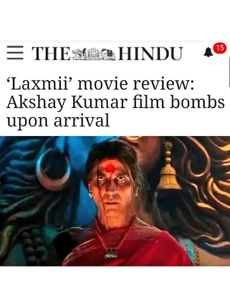 @nepometer Despite new title, #Laxmii •Still Bombed👇 •Is still 'terrible' 'trash'👇  #LaxmiiReview #SSRians #LaxmmiBomb @BrarH3M #AkshayKumar @love_gkt @msshailjasharma  @naturalphoton @sush_preet @ritumanik @HopeofSSR @EishaTweets @SayaniGS  #SSRDishaAwaitsJustice #Bollywood @Nyay4SSR