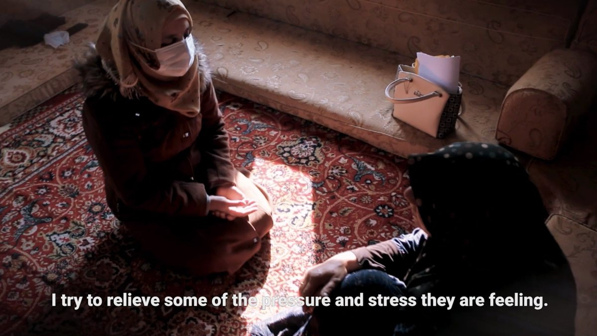 """""""Each day I wake up in the hope of bringing up change.""""  After almost 10 years of violence, millions of people in Syria need psychological support.   Mahasin brings them hope. Watch her story. #InvestInHumanity"""