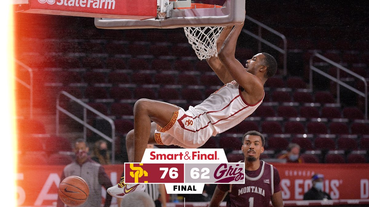 FINAL: USC 76, Montana 62  Trojans cruise to a double-digit win and are now 2-0 on the season! https://t.co/jIk1zr6n1T