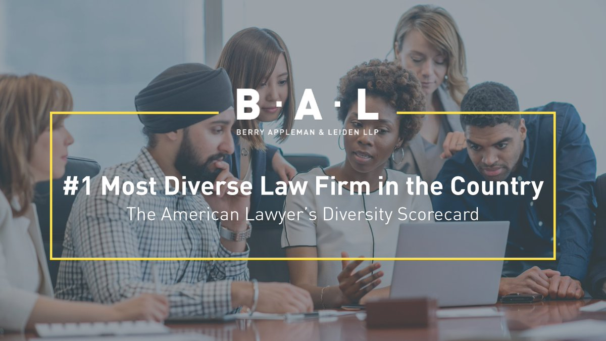 @BAL_Immigration is the most #diverse law firm in the country and has landed the #1 spot on @AmericanLawyer's 2020 Diversity Scorecard. Read more about BAL's culture of collaboration here: https://t.co/ECYcRyc8Xm #oneBAL #BALeader #inclusion #diversity https://t.co/ur5WZONkXz