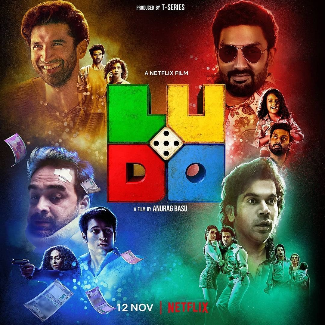 @basuanurag's #LudoMovie is funny and great in terms of writing,screenplay and acting of every person. @TripathiiPankaj always blow my mind with his effortless acting. #AdityaRoyKapoor #InayatVerma #RohitSaraf  Stream on @NetflixIndia