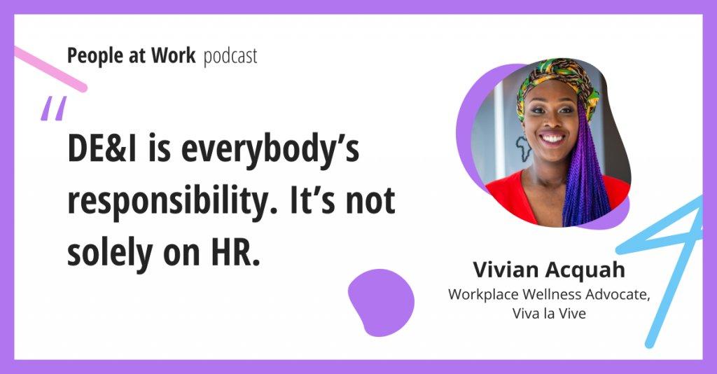Vivian Acquah walks you through what part you can all play in DE&I and how DE&I is something you feel.   @vivalavivenl @jostleme #diversity #inclusion #leadership https://t.co/KUNjaTzhVV https://t.co/YO5HbPg2wC