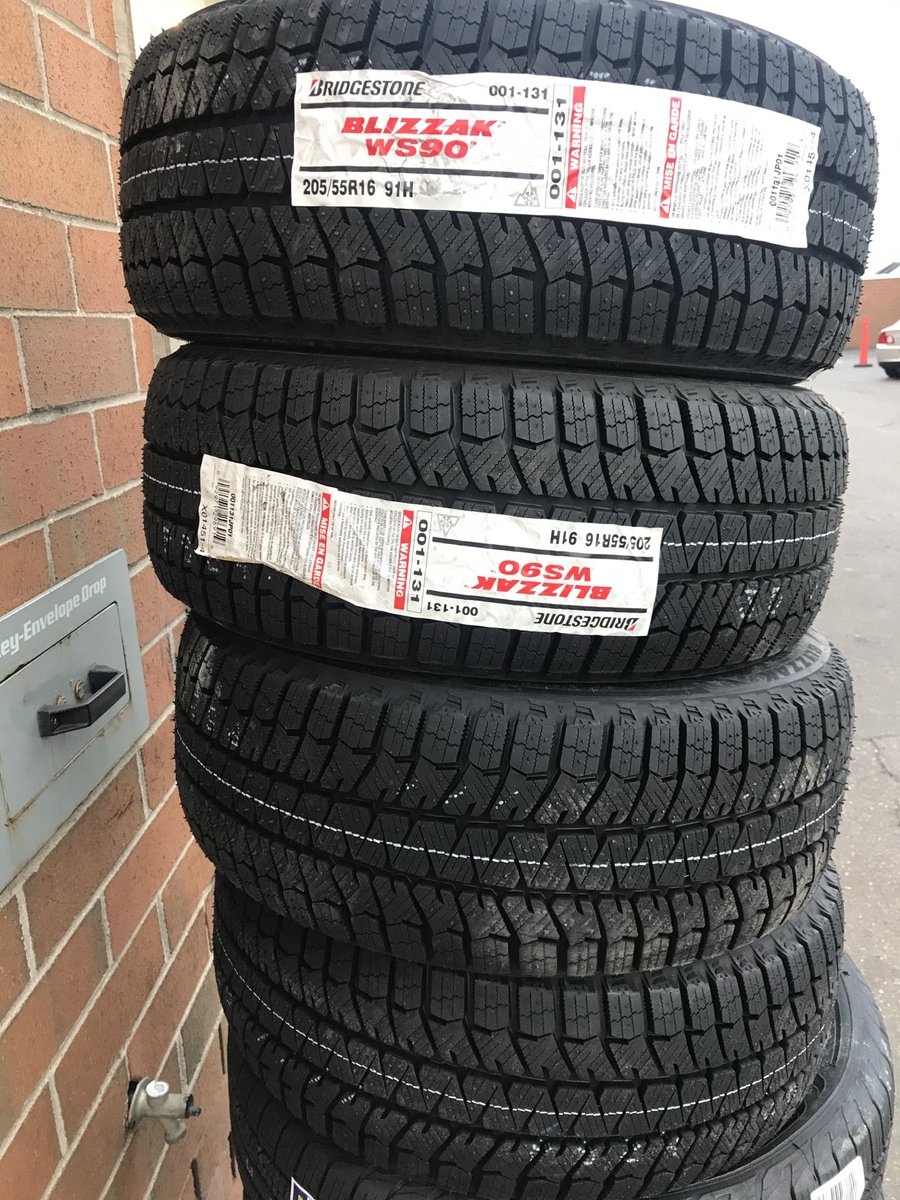 Grabbed these for my Son on #BlackFriday just in time for the snowstorms next week. Anybody have experience w/them on a RWD BMW? #Bridgestone #Blizzak #WS90 #Wintertires #BMW