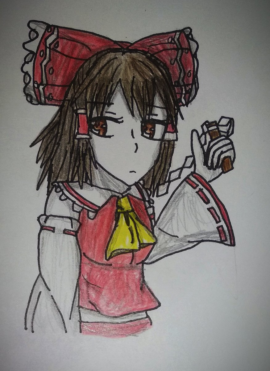 #東方project #東方 #Touhou #HakureiReimu #博麗霊夢 #Fanart - #Art #MyArt #Drawing #DrawingArt #AnimeStyle #TraditionalArt #Girl #AnimeGirl #Anime #Mydrawing #Illustrator #Illustration #Artwork #Рисунок #Картинка #Арт #Аниме #アート #イラスト https://t.co/rklb9oWZwV