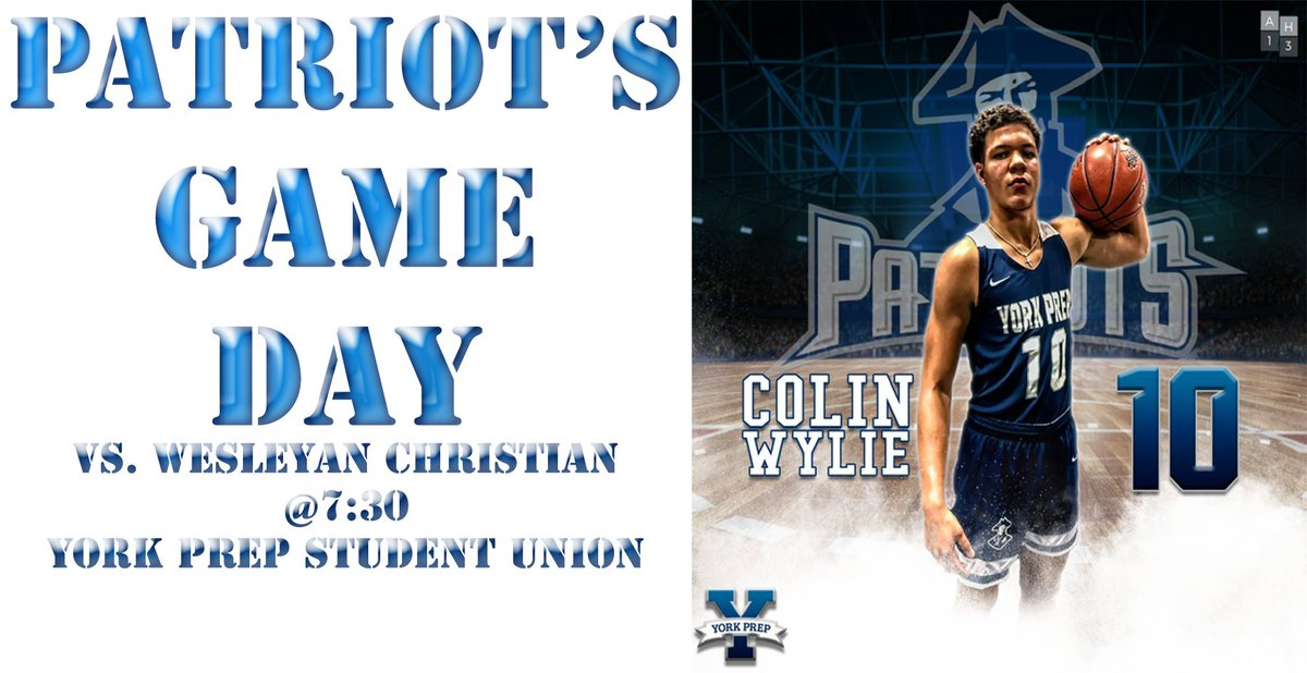 Big week ahead for the Patriot's..Another great early matchup for York Prep. Wesleyan Christian Academy has a history of producing some Big-Time Players like former Tarheel Theo Pinson & former Duke standout Harry Giles. https://t.co/ph5TmyJo18
