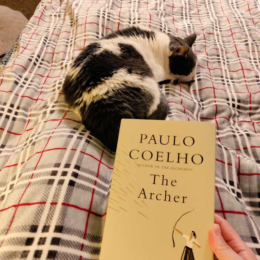 Enjoying a quiet night with a new book. #PauloCoelho #TheArcher