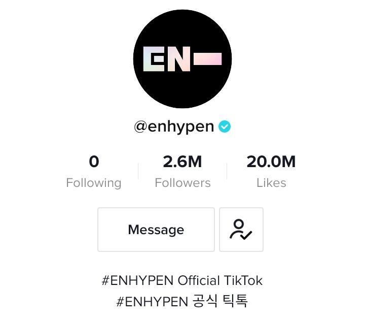 """Engene Indonesia On Twitter 201117 Info Akun Tiktok Official Enhypen Telah Mencapai 20 Juta Like Enhypen ̗""""하이픈 Enhypen Members"""