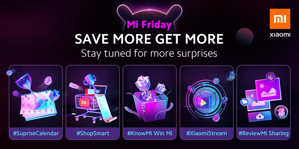 Xiaomi On Twitter This Black Friday Xiaomi Has Prepared A Variety Of Fun Activities For Everyone Everything Is Ready For Helping You Savemoregetmore With Xiaomi Https T Co We0ljrcxqg
