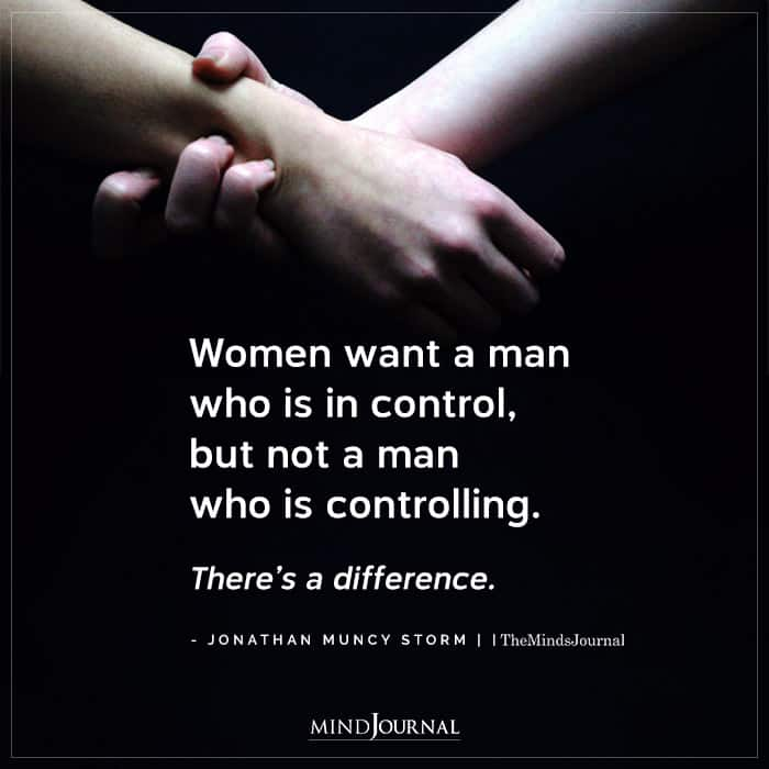 never tolerate in dating controlling men
