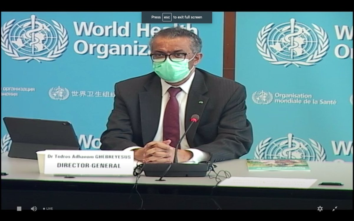 Special Thanks to @DrTedros for making the call to eliminate #CervicalCancer globally.