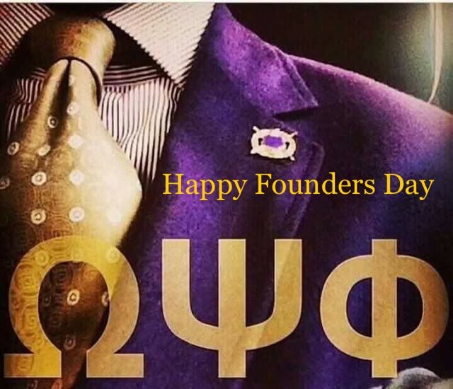 Happy Founders Day to the GREATEST men on earth......The men of OMEGA PSI PHI!
